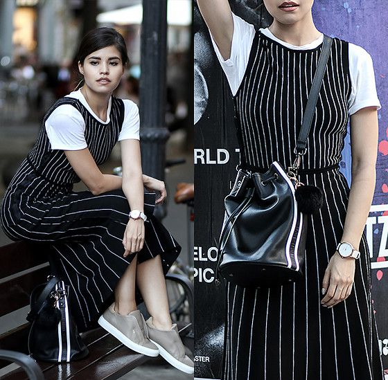 Get this look: http://lb.nu/look/8343918  More looks by Adriana Gastélum: http://lb.nu/bagt  Items in this look:  Pinko Dress, Axel Arigato Sneakers, More Outfits On   #casual #chic #minimal
