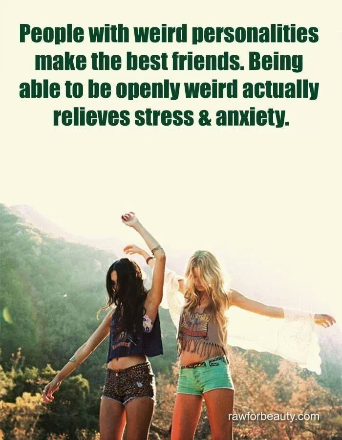 differences and weirdness friends quote | Hippie | Friendship