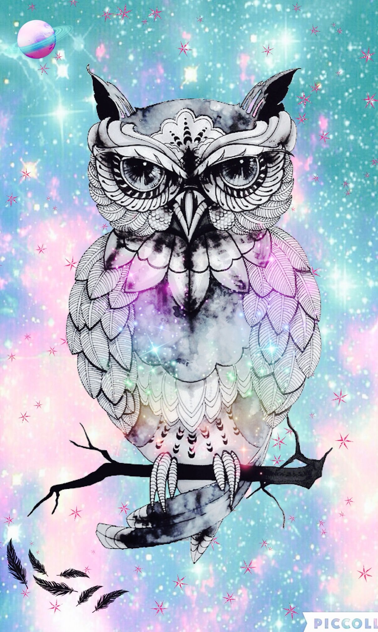 Owl hipster Galaxy Wallpapers me Pinterest