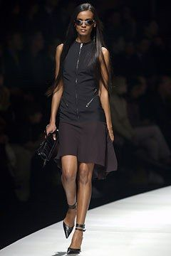Versace Fall 2003 Ready-to-Wear Fashion Show - Donatella Versace, Liya Kebede