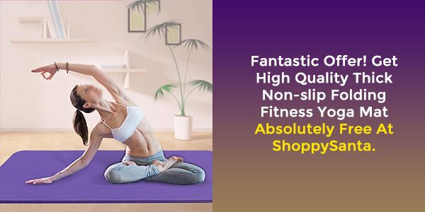 Order High Quality Thick Non-slip Folding Fitness Yoga Mat at Free Of Cost. Shop Now! Checkout Shopp...