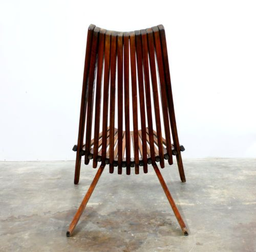 Mid Century Modern Teak Lounge Chair Clam Chairs Chair