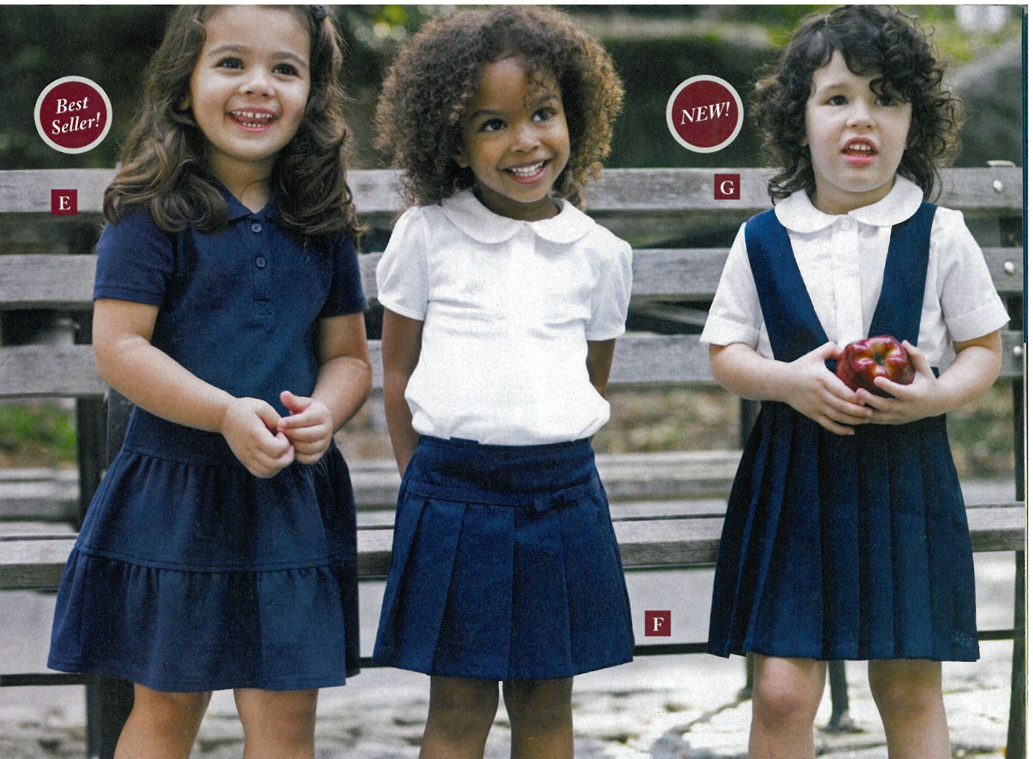 Find toddler girl school uniforms at Oshkosh, your one-stop place for uniform pants, shirts and dresses for your little girl.