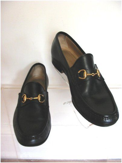 f7d965332a5 Vintage Gucci Loafers. Classic Horsebit in goldwash or brass hardware. I  have this model in this color.