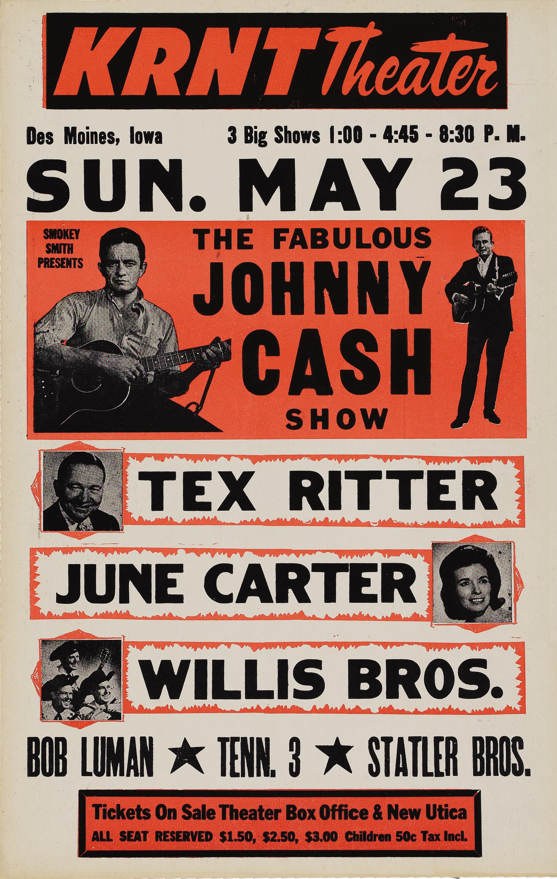 The Fabulous Johnny Cash Show Poster Typehunter Johnny Cash Show Johnny Cash Concert Posters