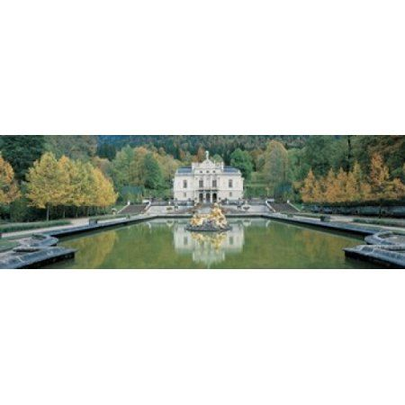 Linderhof Castle Germany Canvas Art - Panoramic Images (36 x 12)