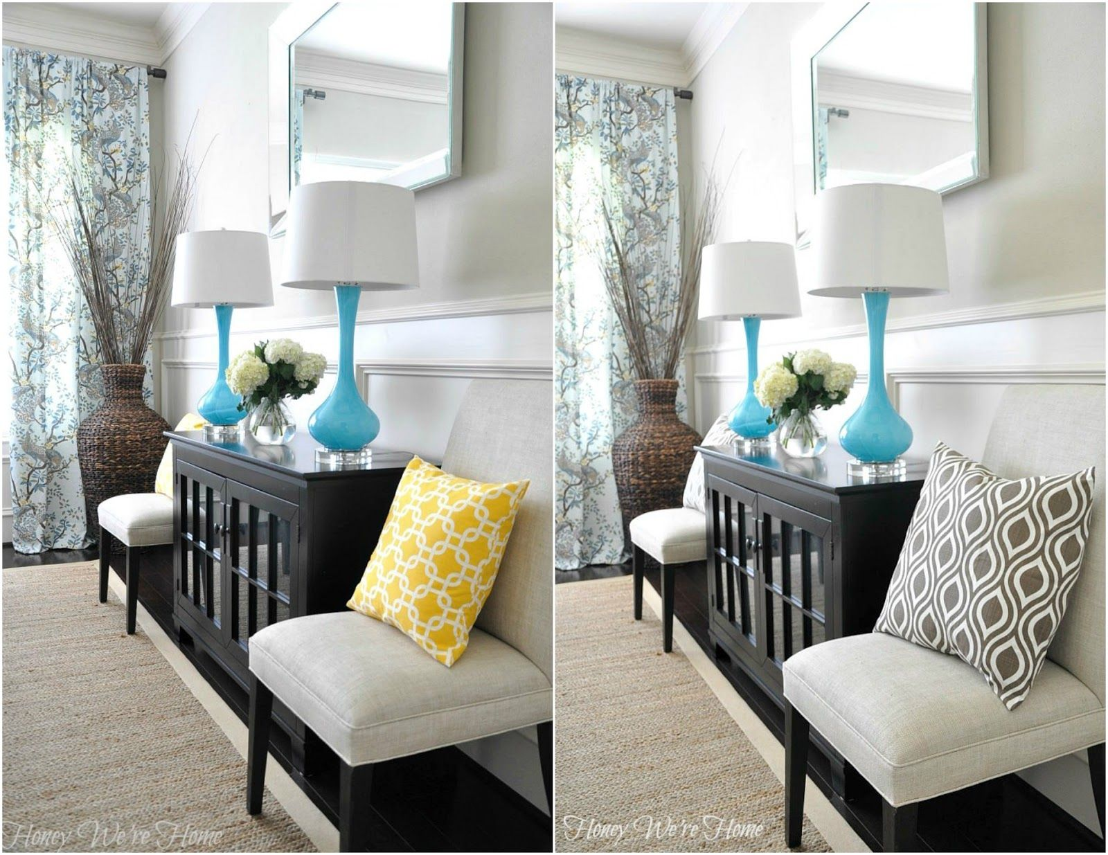 dining room pillows (yellow or brown?) | pillows, room and foyers