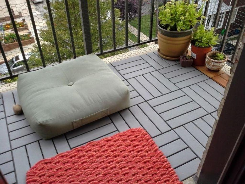 55 Inspiring Wooden Floor Design Ideas On Balcony For Your