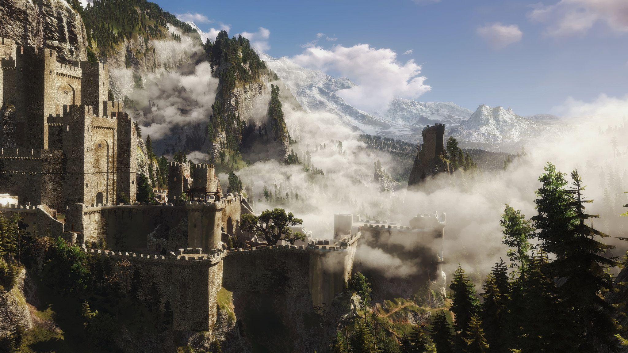 Kaer Morhen in 2020 | The witcher 3, The witcher, Fantasy places
