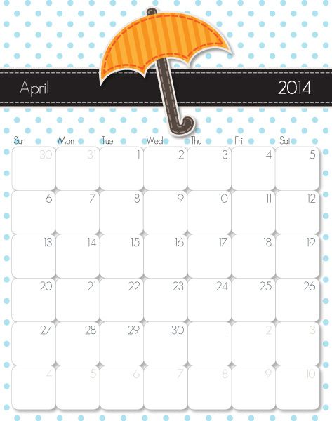 April 2014 Calendar Observances And Activities Pinterest