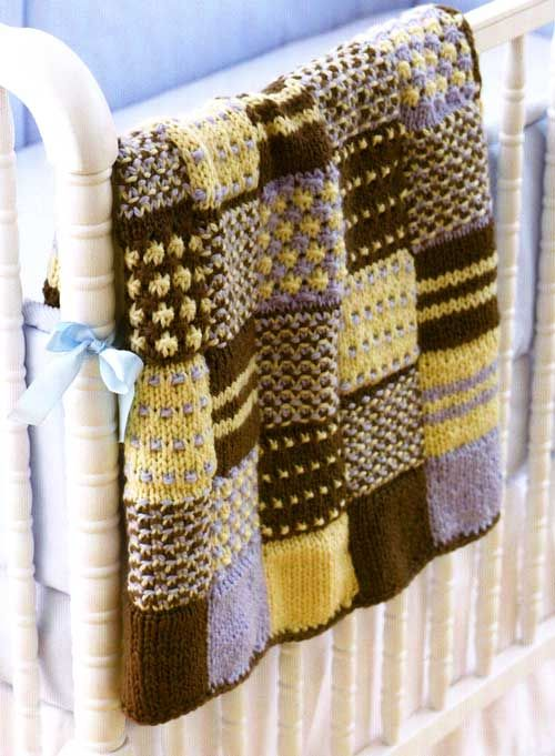 Knitted Patchwork Quilt Blankets Rugs Pinterest Patchwork