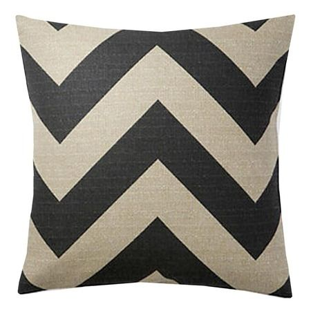 Soft black chevron pillow from Joss and Main