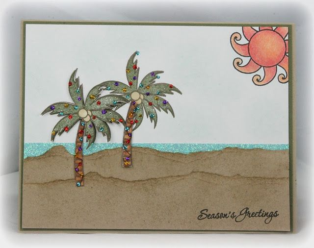 Palm trees with beads.