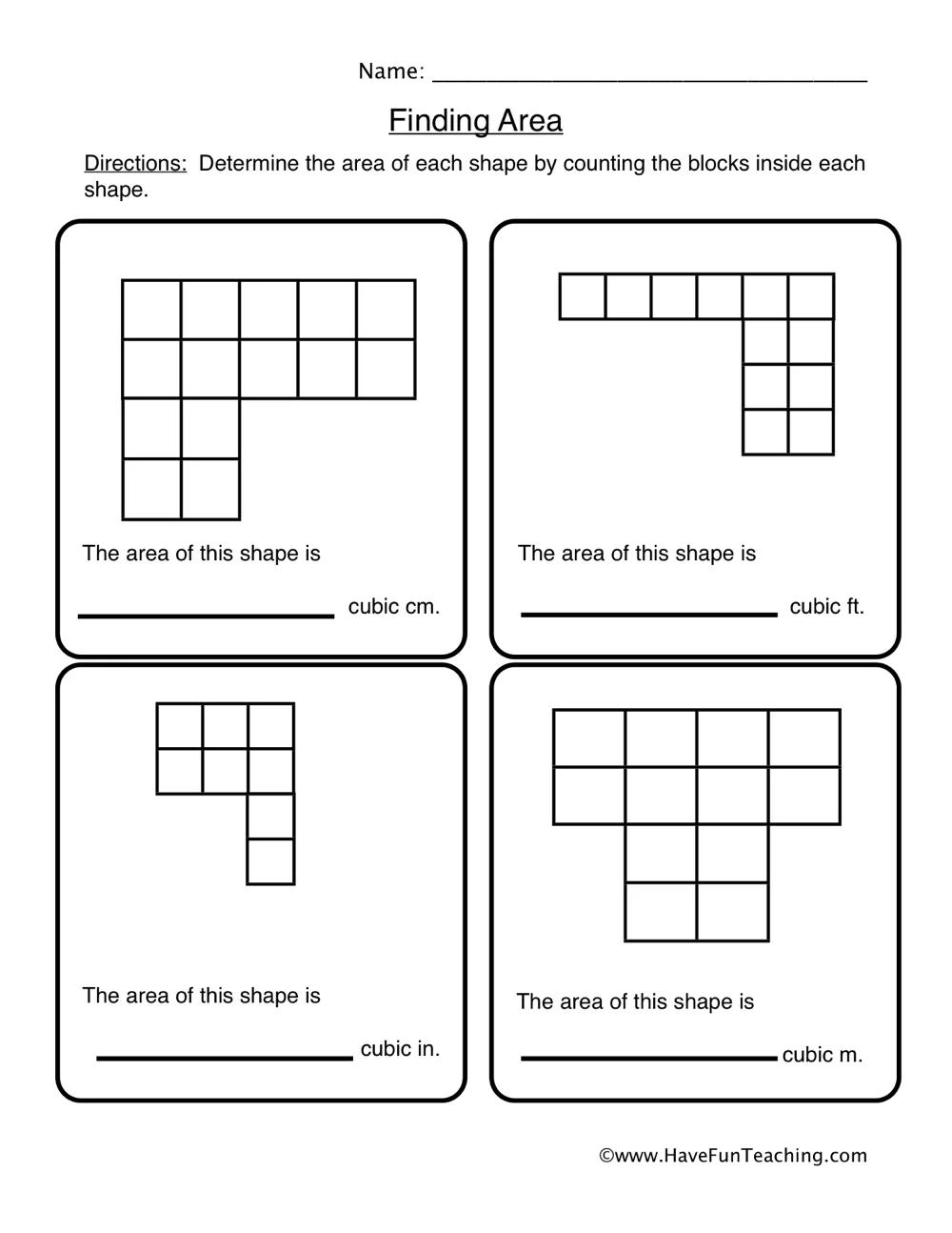 Finding Area Of Irregular Shapes Worksheet Area Worksheets Geometry Worksheets Shapes Worksheets [ 1294 x 1000 Pixel ]