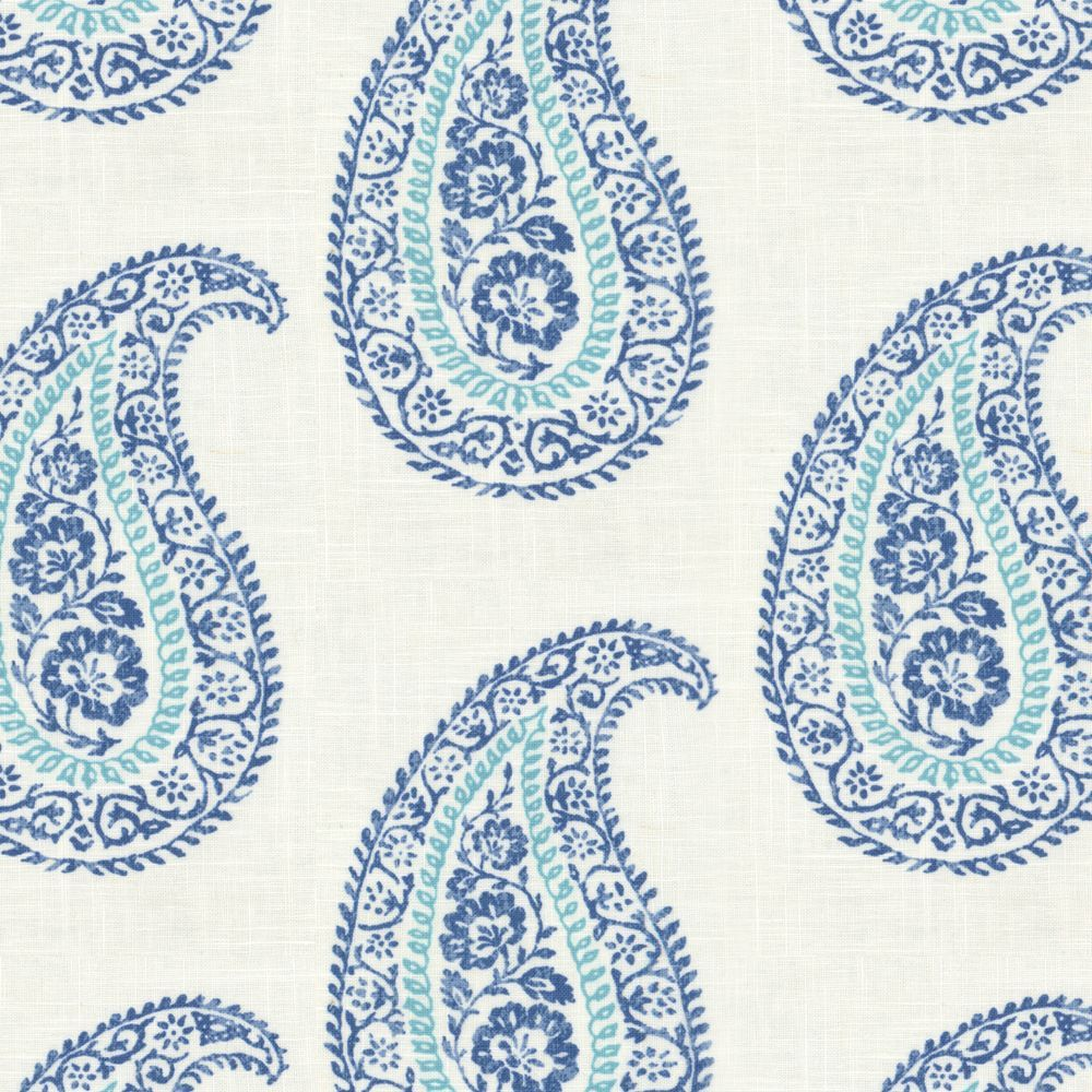 Mandha - Sea | Printed linen, Linen fabric and Block prints