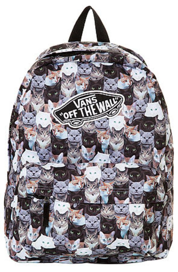 c11db82a0b3d The Vans x Aspca Realm Cat Backpack  Mazie Bones Bones Bones Bleu ...