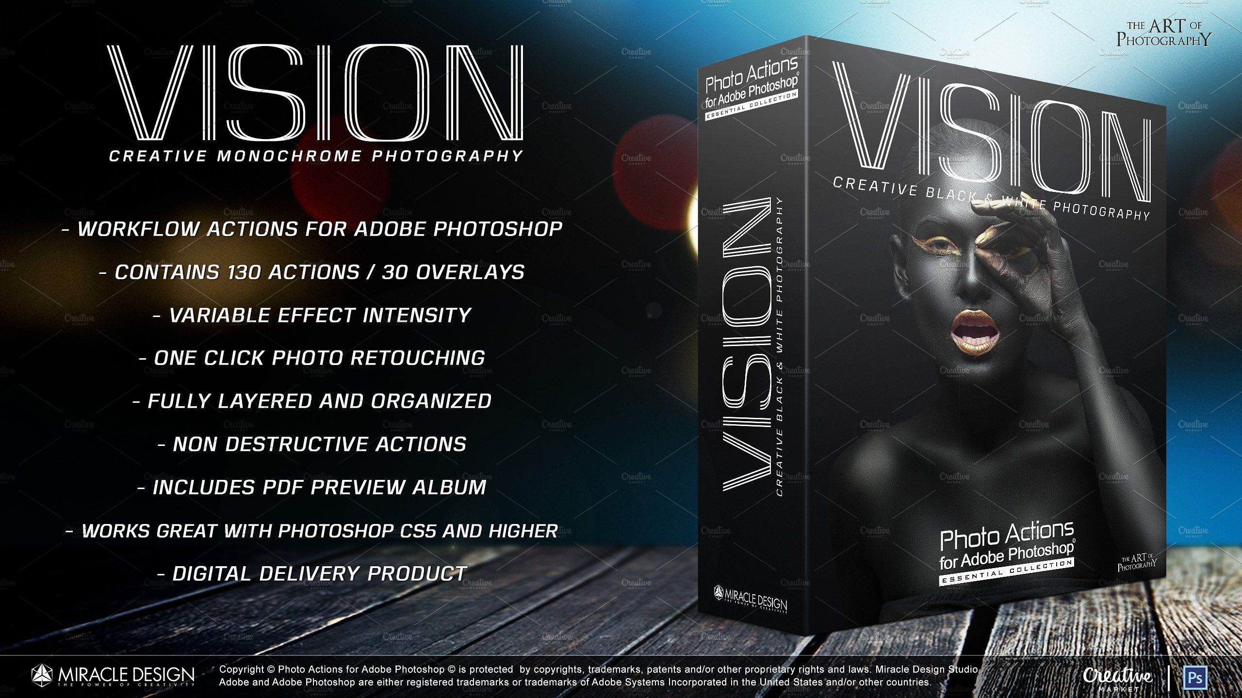 Actions For Photoshop Vision Deeper Color Absence Model