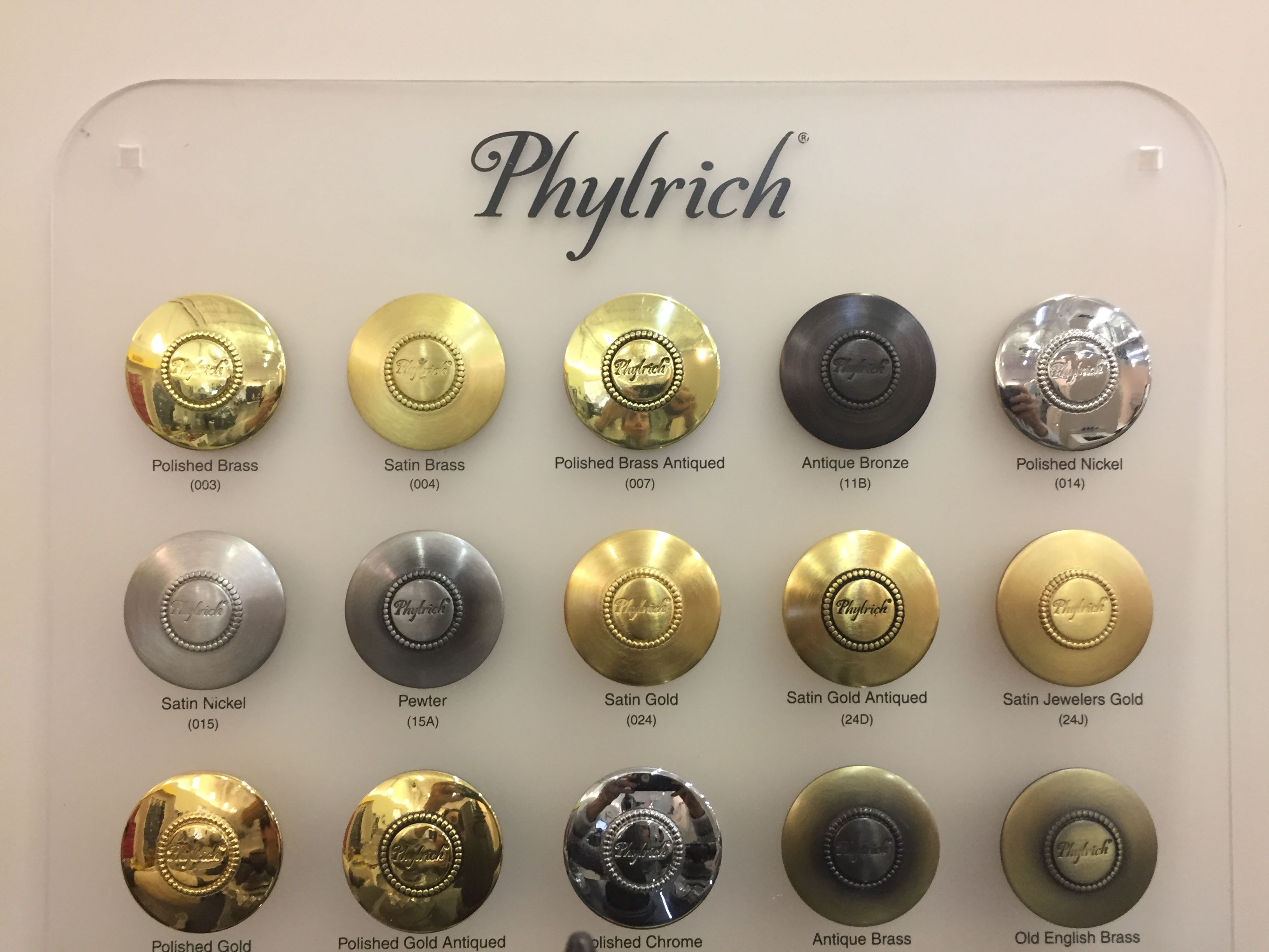 Phylrich Satin Brass Top Second From Left Master Bath