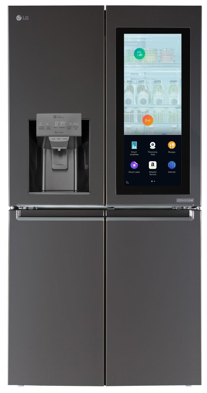 This New LG Fridge Features A Touch Screen And Alexa Support Appliance And  Tech Company LG Introduced Its New Smart Refrigerator Featuring A 29 Inch  ...
