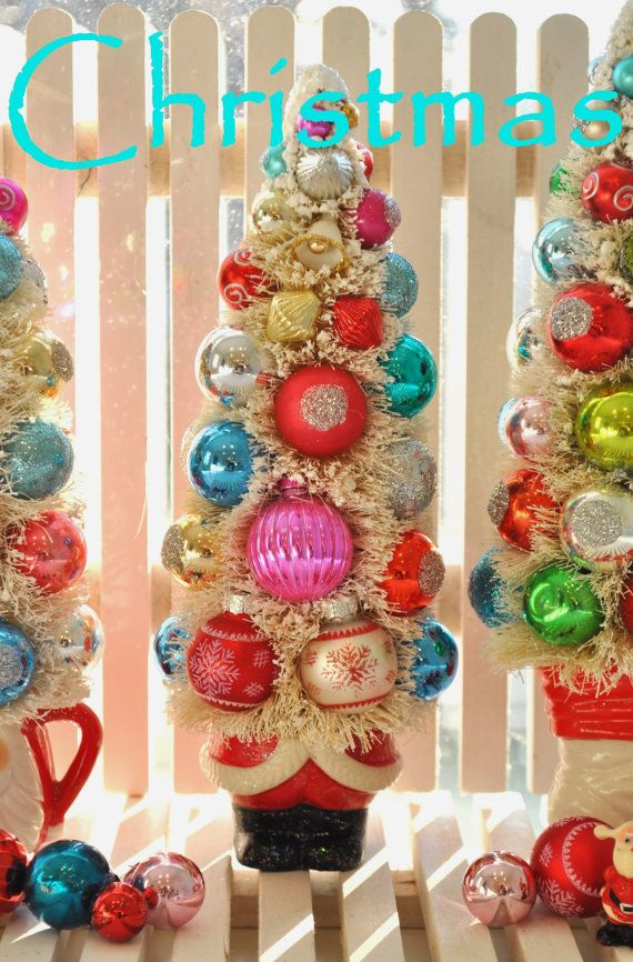 Oh so Kitschy and chic Christmas Bottle Brush tree. These stunning ...