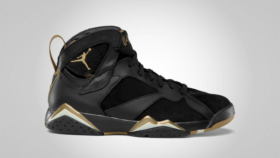 low priced fee52 a29be Air Jordan 7 Black & Gold   Footwear   Jordans, Air jordans ...