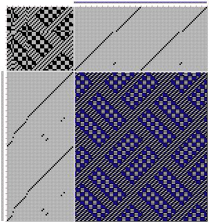 Figure 621, A Handbook of Weaves by G. H. Oelsner, 46S, 48T