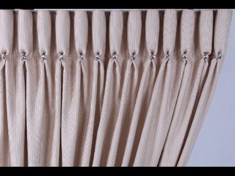 Goblet Pleat How To Make A Goblet Pleat Curtain 200mm Tape For A Proud Pleat Youtube Shtory Vykrojki Idei