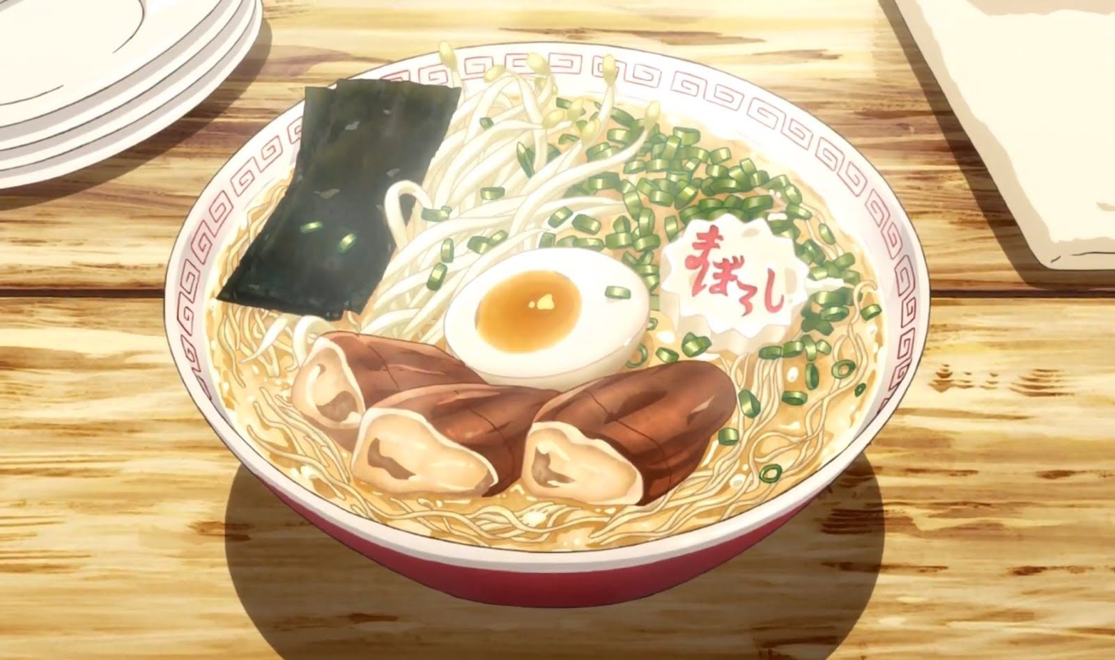 Making normal ramen look more appetizing. food anime