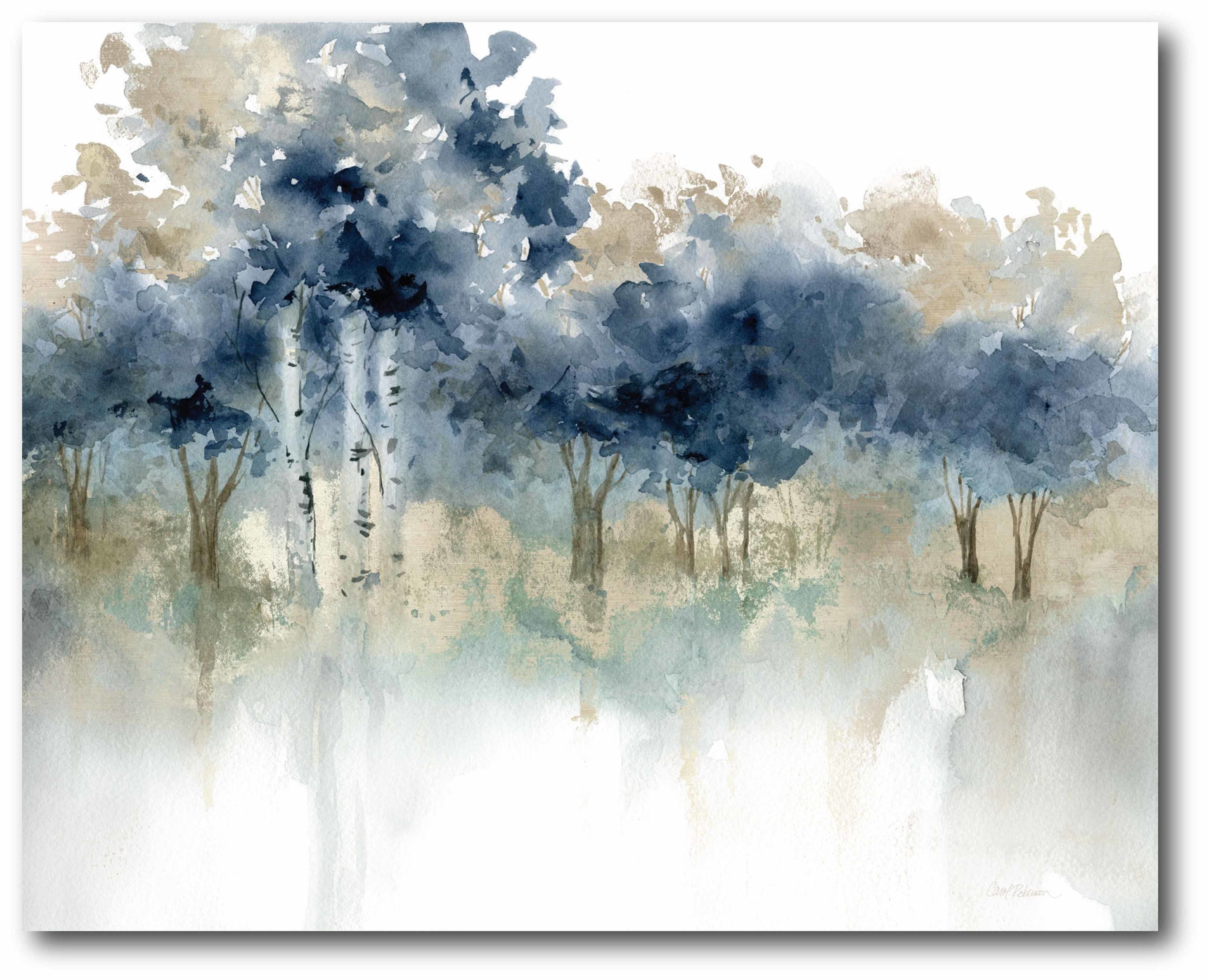 Waters Edge Iii Print On Wrapped Canvas In 2020 Big Canvas Art