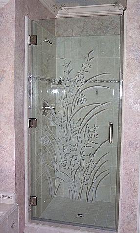 Etched Shower Doors glass shower doors designs | frameless shower door | kitchen &bath