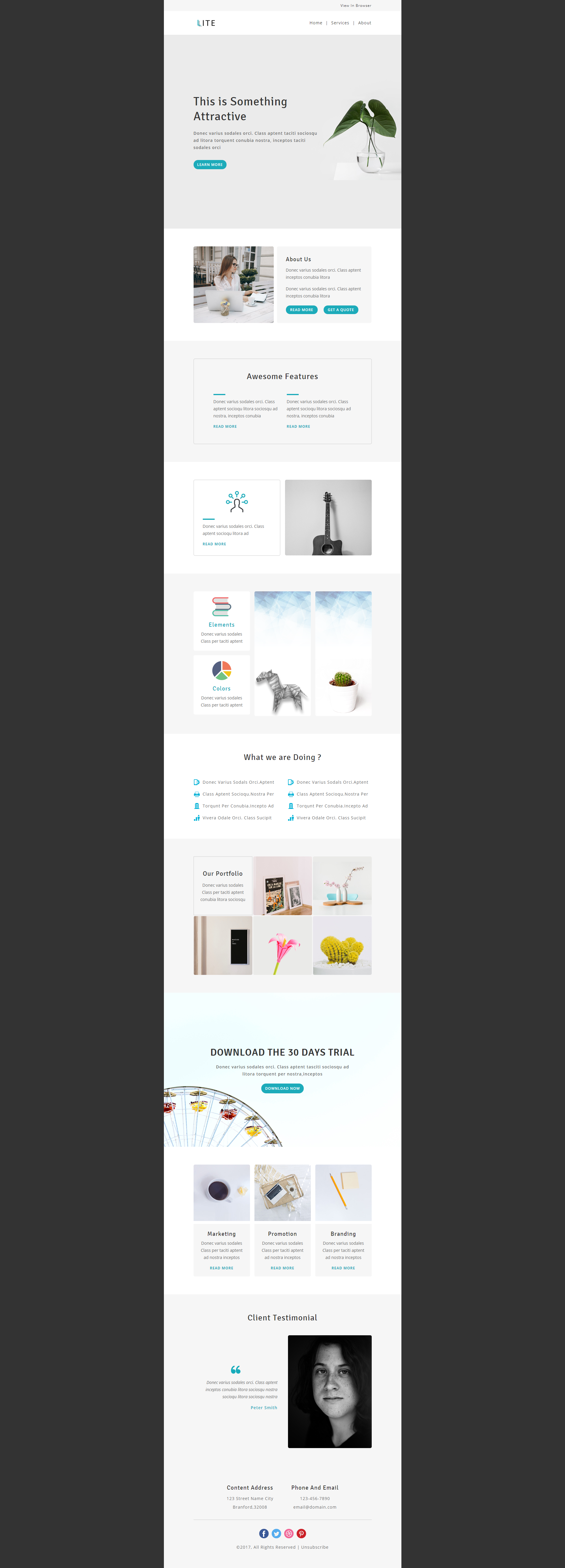 Multipurpose responsive email template designed for ...
