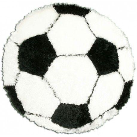 tapis rond noir et blanc ballon de