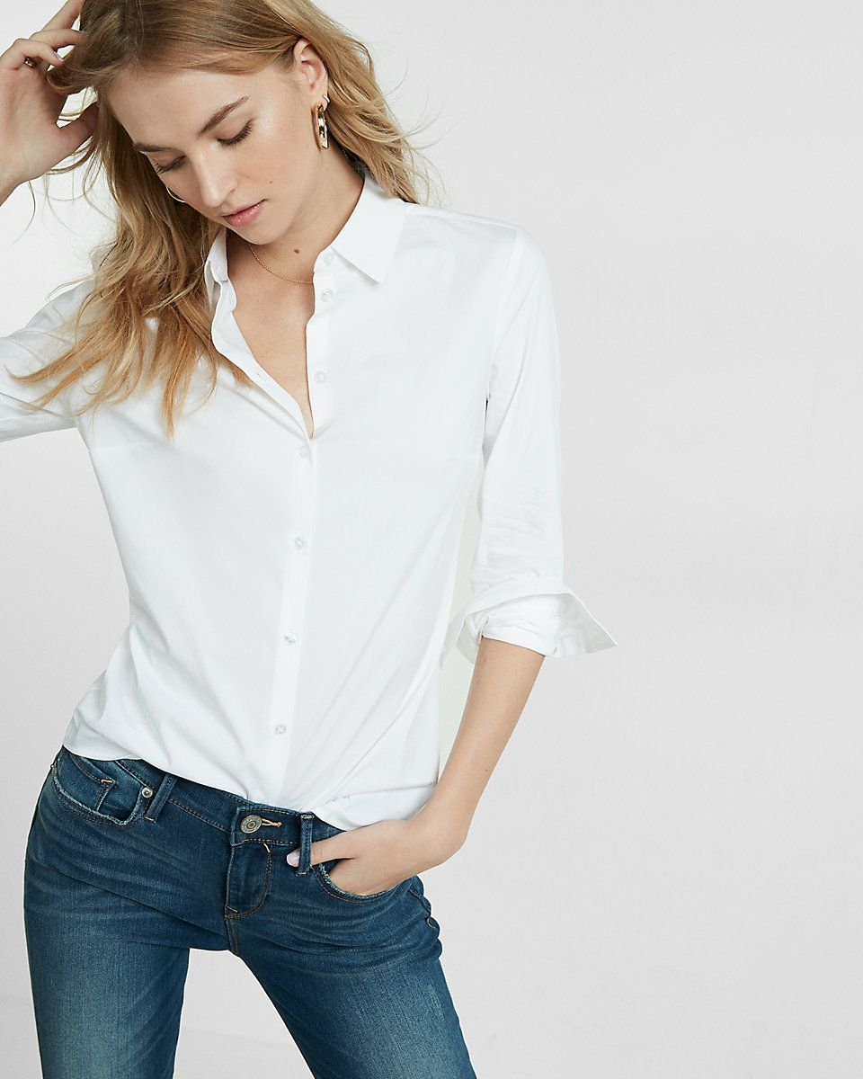 Image result for Slim Fit Long Sleeve Essential Shirt