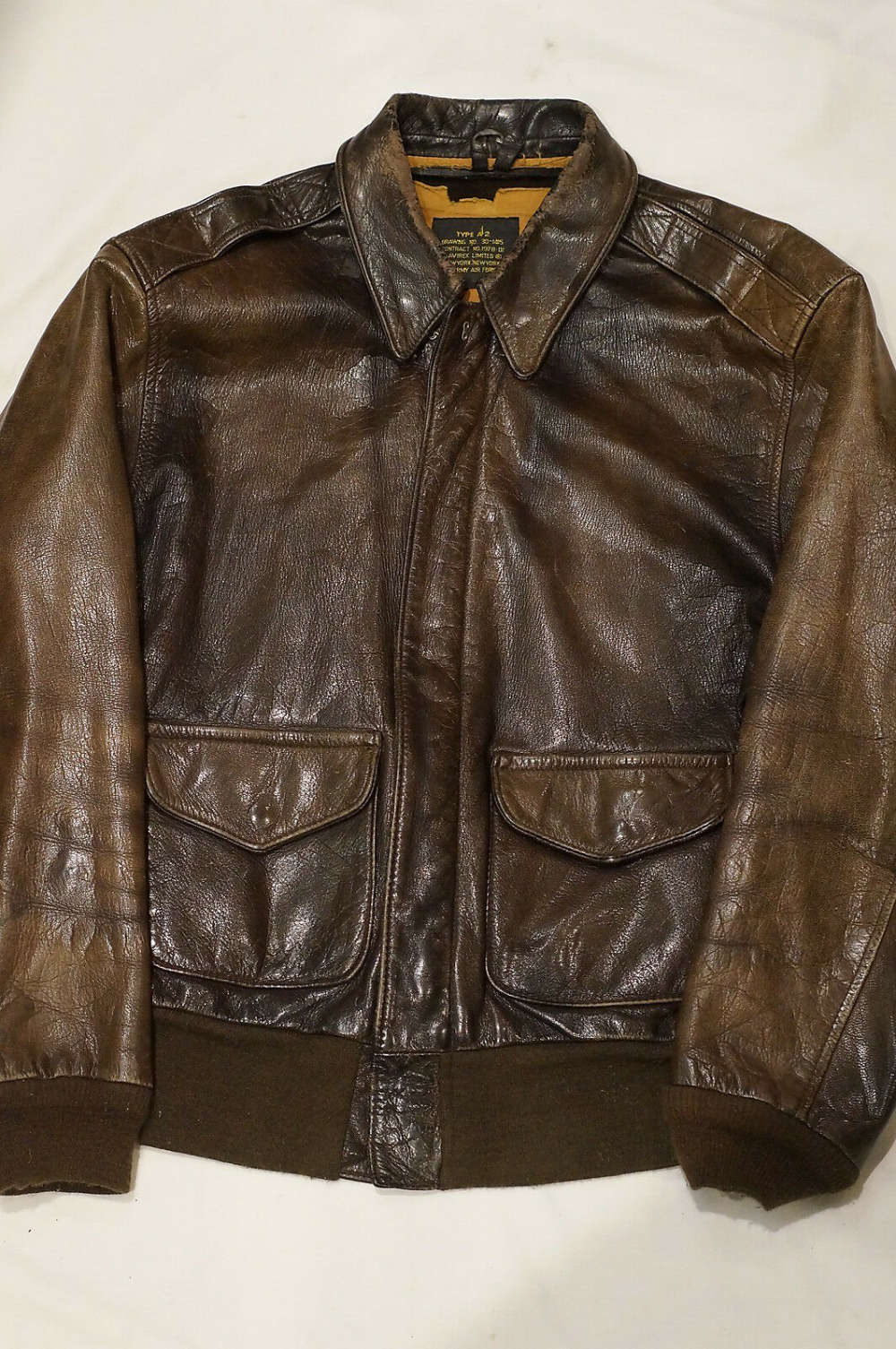 Us Army Air Force Usaaf A 2 Leather Bomber Flight Jacket Avirex Ebay Leather Bomber Flight Jacket Jackets [ 1505 x 1000 Pixel ]