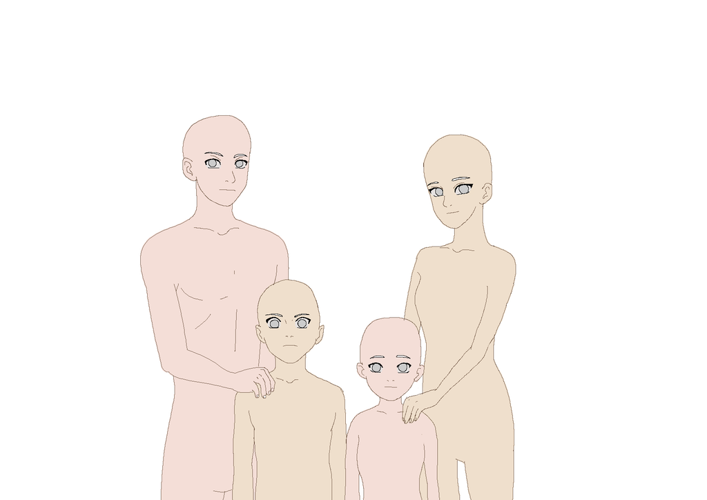 Family Base By Izumii89 Anime Poses Reference Family Drawing Drawing Base