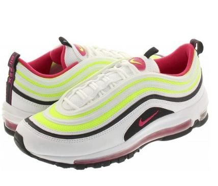 나이키 남자신발 270사이즈 Nike Air Max 97 White / Rush PinkBlack