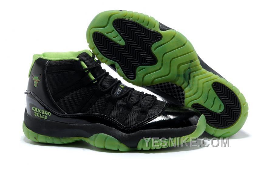 low priced 59dce e722b Big Discount! 66% OFF! Nike Air Jordan 11 XI Homme Chicago Bulls Noir Vert,  Price   70.00 - Nike Shoes, Air Jordan shoes