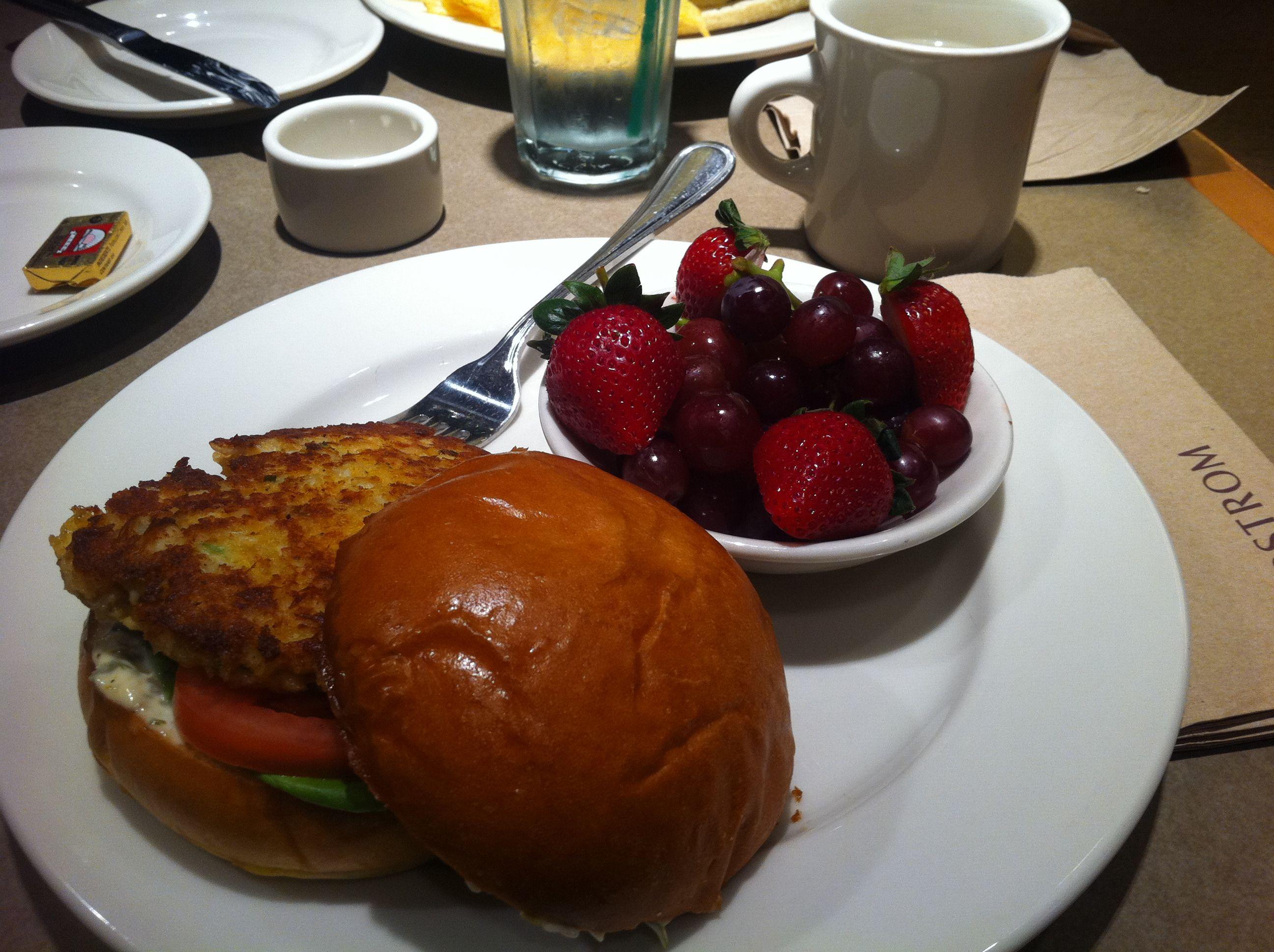 Nordstrom Cafe - Crabcake Sandwich   Crab cakes:-)   Pinterest ...