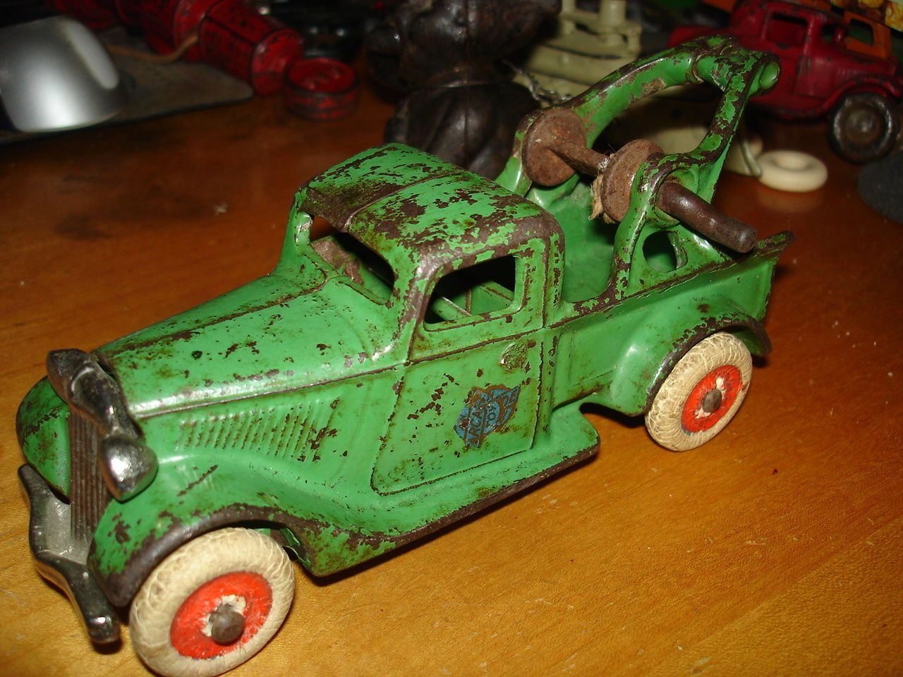 1934 Arcade Ford Tow Truck Wrecker Cast Iron Antique Toy Truck ...