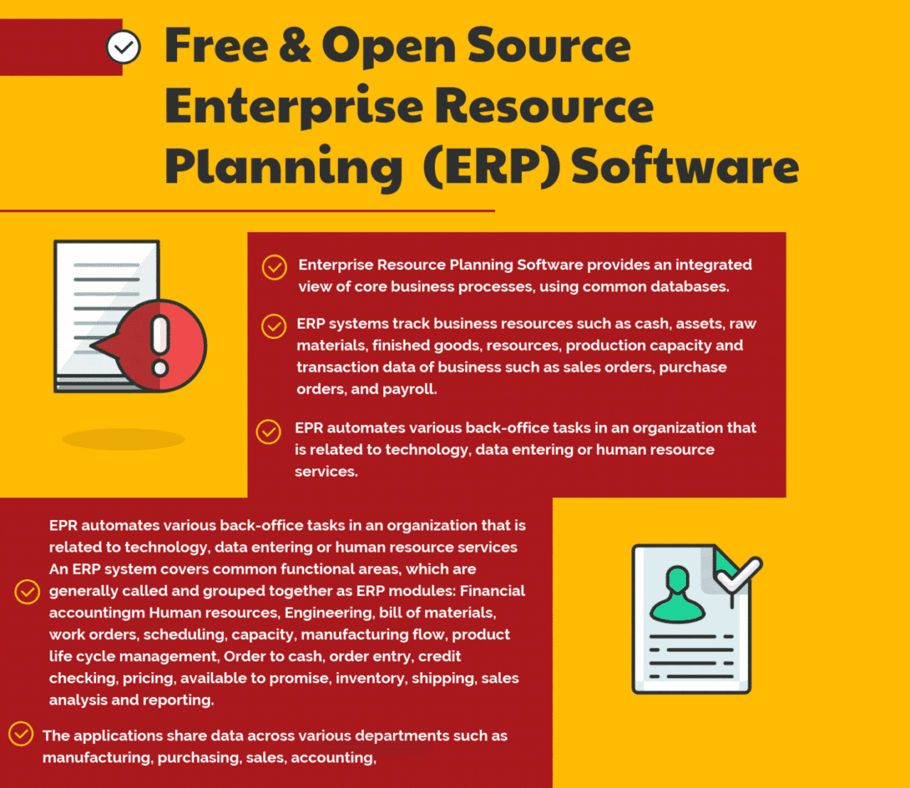 34 Free Open Source And Top Enterprise Resource Planning Erp Software Document Management System Software Enterprise