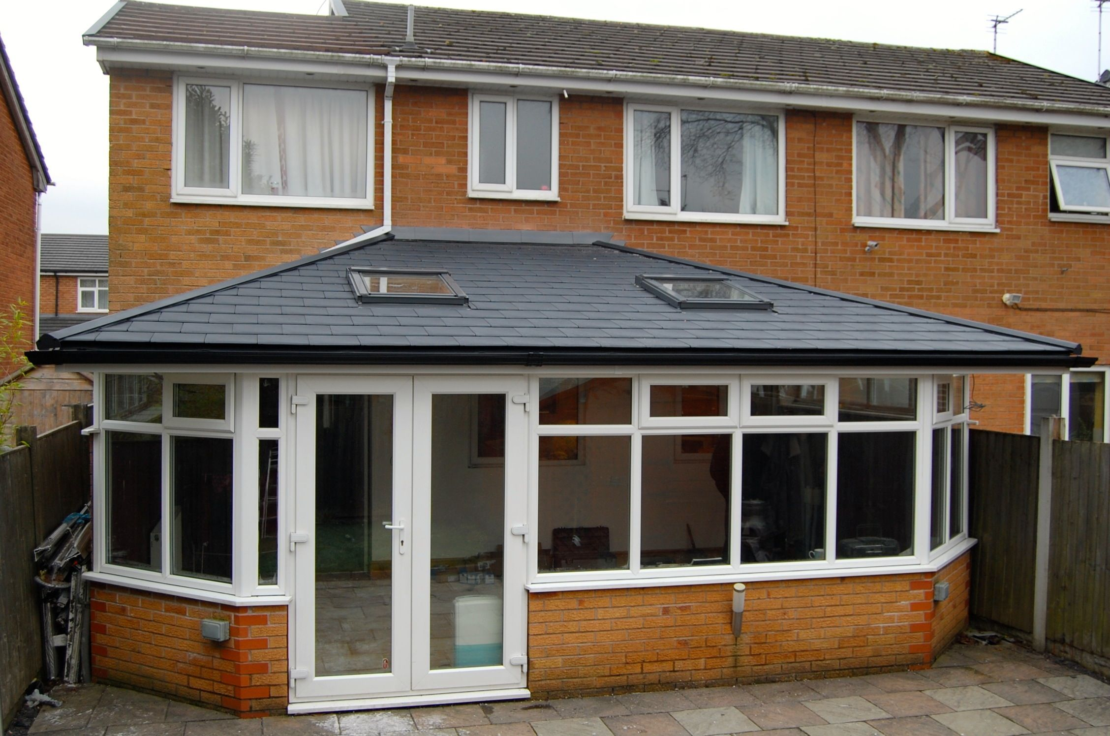This Conservatory Had An Aged Polycarbonate Roof Which Made The Room Cold In The Winter We Transformed The Garden Room Extensions Conservatory Roof Warm Roof