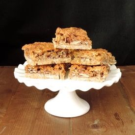 Dream Bars: Pecan and coconut filling with a buttery crust.