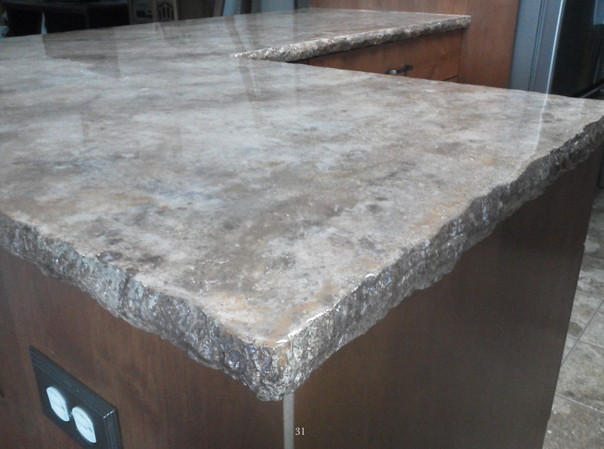 Epoxy Countertops With Natural Gray Metallic Pewter And Earth