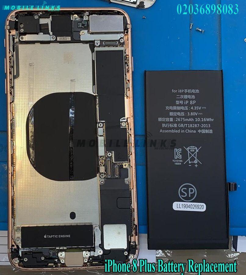 iPhone 8 Plus Battery Replacement Repair at Mobile Links