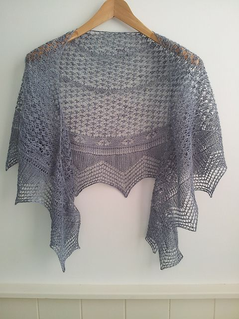 Blue Moon Crescent, a free pattern for a knitted lace shawl from Cath Ward. ...
