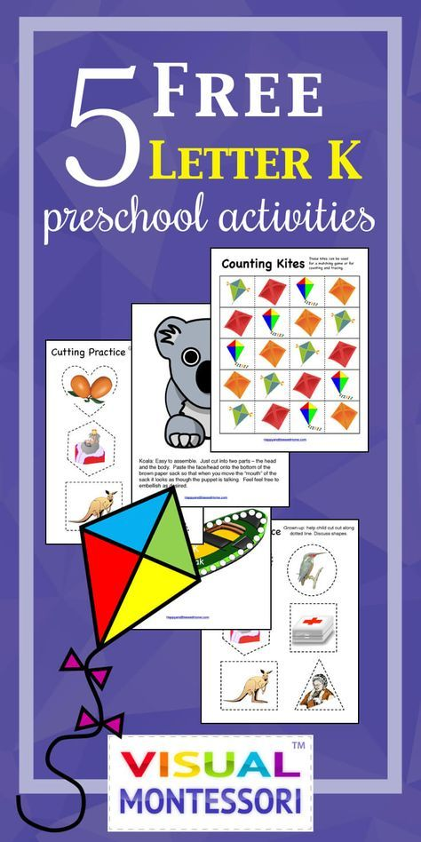 5 Free Preschool Alphabet Letter K Activities For Prek Pinterest