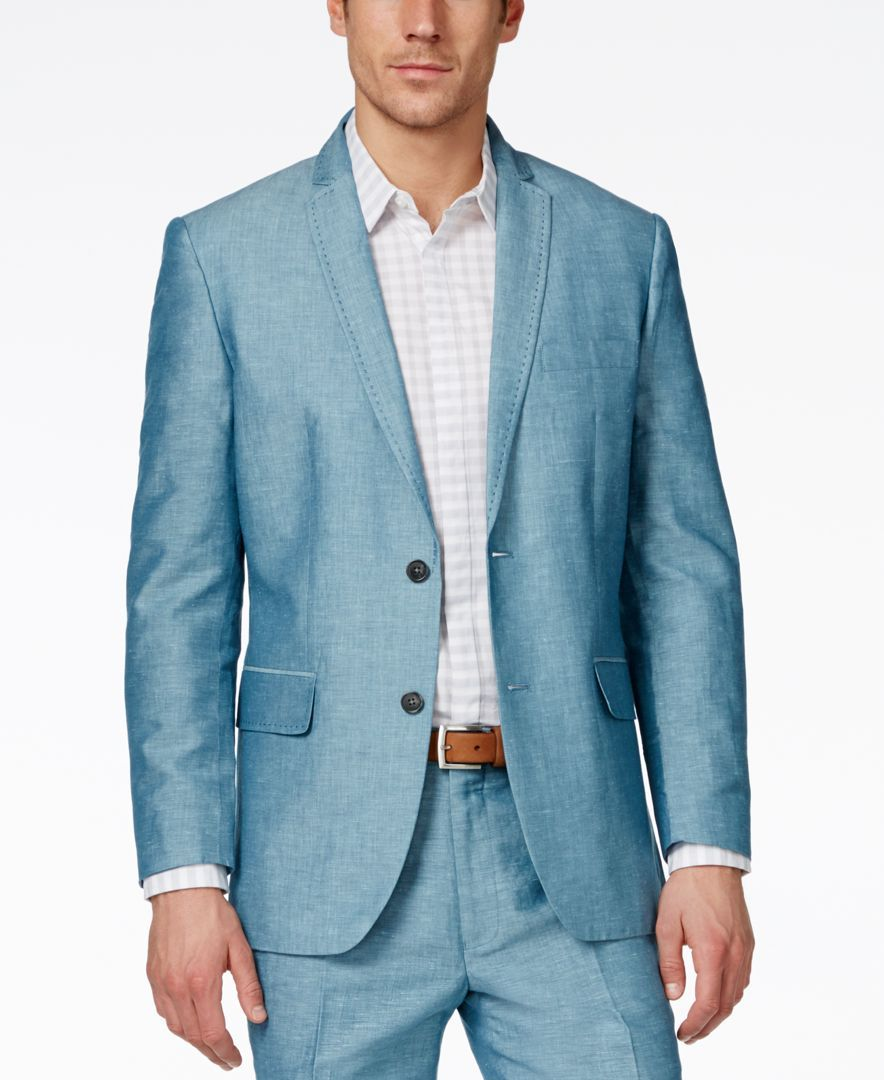 Inc International Concepts Neal Linen Slim Fit Blazer, Only at Macy's