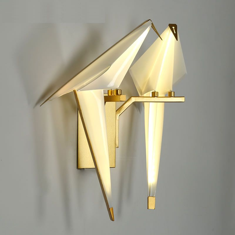 LICAN Creative Birds Wall Sconce Lights Origami White Bird Lamp Nordic Vintage Home Office Decor AliExpress