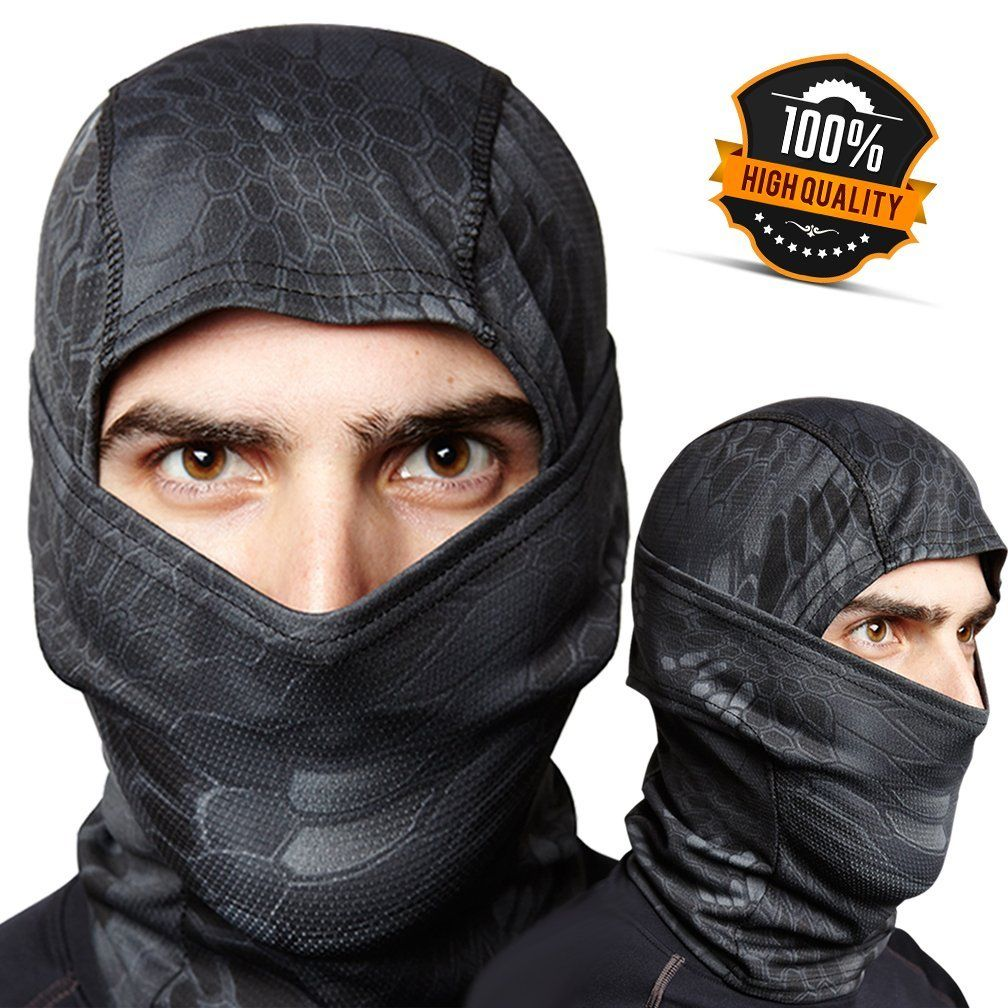 Balaclava Ghost Face Ski Mask Best Warm, Wind Protection for Winter ...