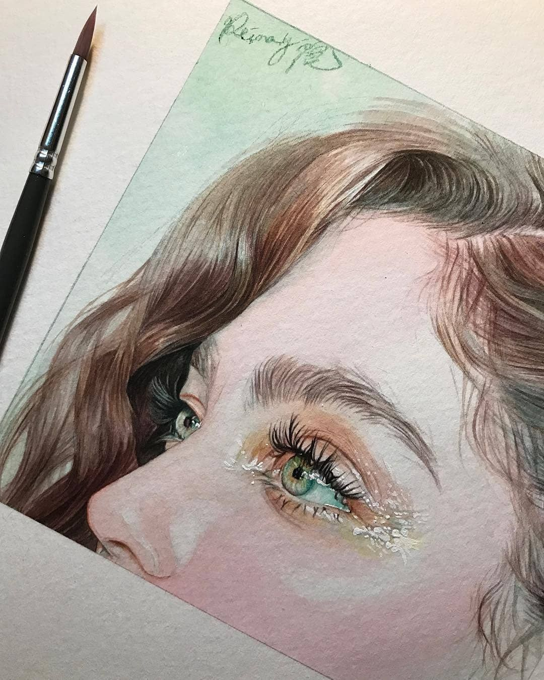 Beautiful Eyes Painting Do You Like Green Eyes Artist